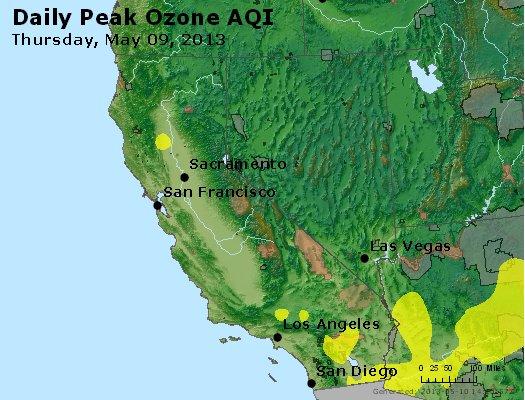 Peak Ozone (8-hour) - http://files.airnowtech.org/airnow/2013/20130509/peak_o3_ca_nv.jpg