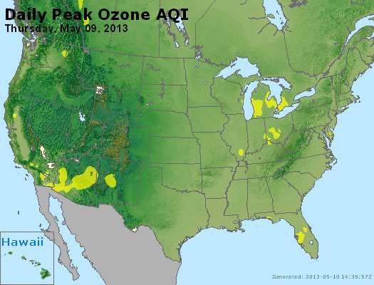 Peak Ozone (8-hour) - http://files.airnowtech.org/airnow/2013/20130509/peak_o3_usa.jpg