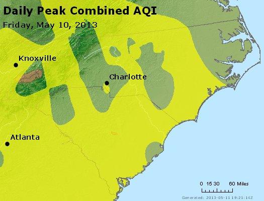 Peak AQI - http://files.airnowtech.org/airnow/2013/20130510/peak_aqi_nc_sc.jpg
