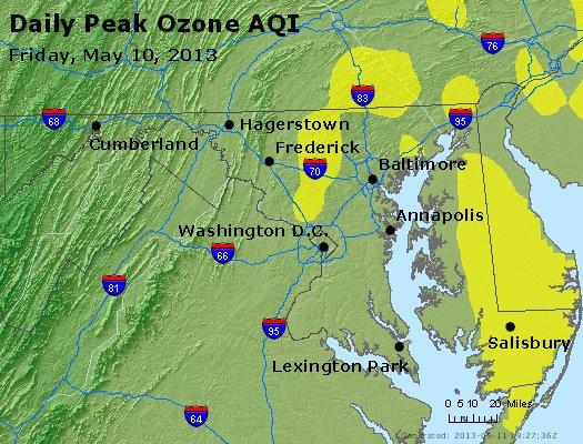 Peak Ozone (8-hour) - http://files.airnowtech.org/airnow/2013/20130510/peak_o3_maryland.jpg