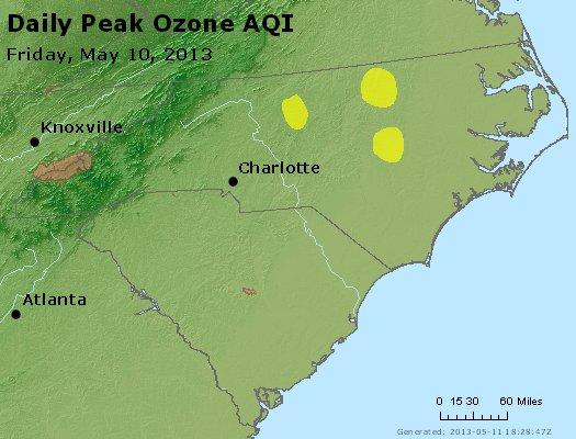 Peak Ozone (8-hour) - http://files.airnowtech.org/airnow/2013/20130510/peak_o3_nc_sc.jpg