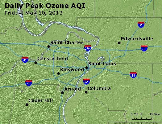 Peak Ozone (8-hour) - http://files.airnowtech.org/airnow/2013/20130510/peak_o3_stlouis_mo.jpg
