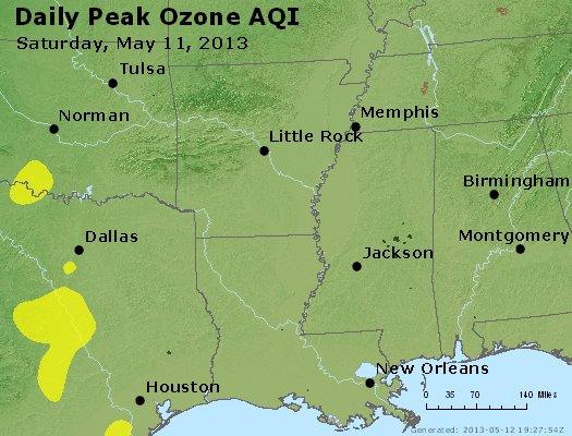 Peak Ozone (8-hour) - http://files.airnowtech.org/airnow/2013/20130511/peak_o3_ar_la_ms.jpg