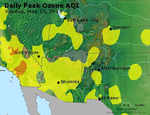 Peak Ozone (8-hour) - http://files.airnowtech.org/airnow/2013/20130512/peak_o3_co_ut_az_nm.jpg