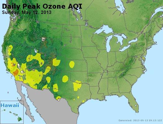 Peak Ozone (8-hour) - http://files.airnowtech.org/airnow/2013/20130512/peak_o3_usa.jpg