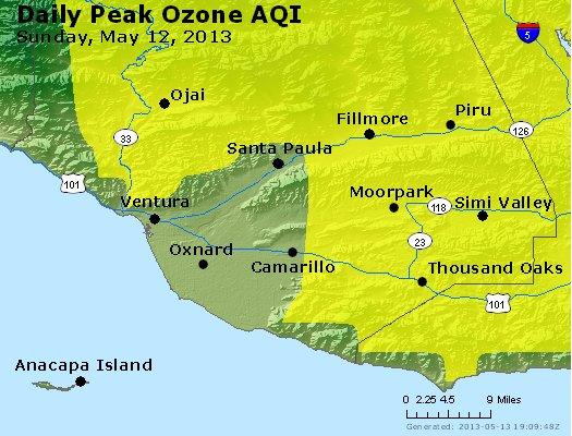 Peak Ozone (8-hour) - http://files.airnowtech.org/airnow/2013/20130512/peak_o3_ventura.jpg