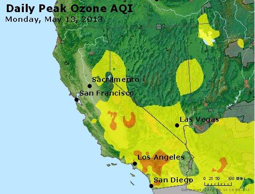 Peak Ozone (8-hour) - http://files.airnowtech.org/airnow/2013/20130513/peak_o3_ca_nv.jpg