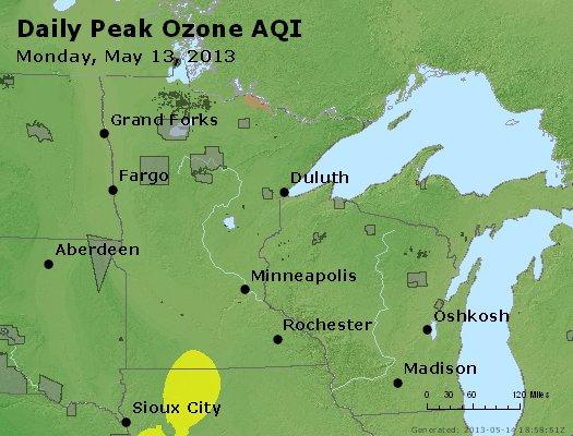 Peak Ozone (8-hour) - http://files.airnowtech.org/airnow/2013/20130513/peak_o3_mn_wi.jpg