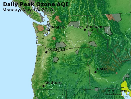 Peak Ozone (8-hour) - http://files.airnowtech.org/airnow/2013/20130513/peak_o3_wa_or.jpg
