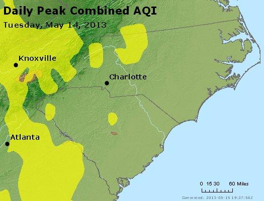 Peak AQI - http://files.airnowtech.org/airnow/2013/20130514/peak_aqi_nc_sc.jpg