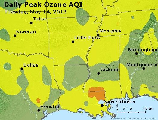 Peak Ozone (8-hour) - http://files.airnowtech.org/airnow/2013/20130514/peak_o3_ar_la_ms.jpg