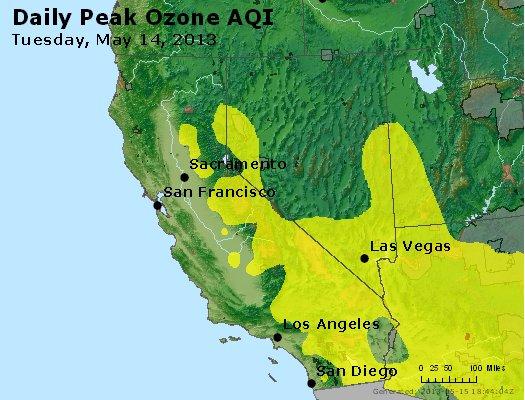 Peak Ozone (8-hour) - http://files.airnowtech.org/airnow/2013/20130514/peak_o3_ca_nv.jpg