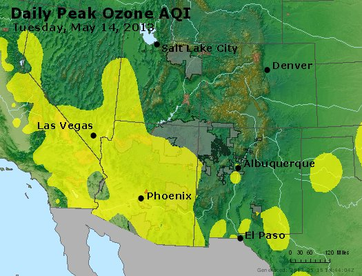 Peak Ozone (8-hour) - http://files.airnowtech.org/airnow/2013/20130514/peak_o3_co_ut_az_nm.jpg