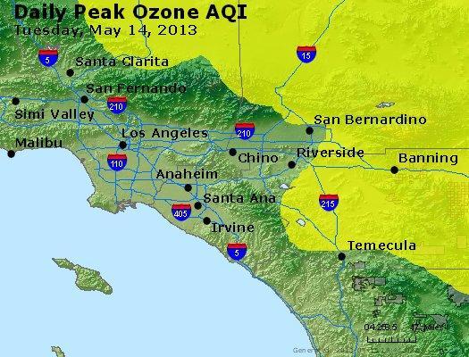 Peak Ozone (8-hour) - http://files.airnowtech.org/airnow/2013/20130514/peak_o3_losangeles_ca.jpg