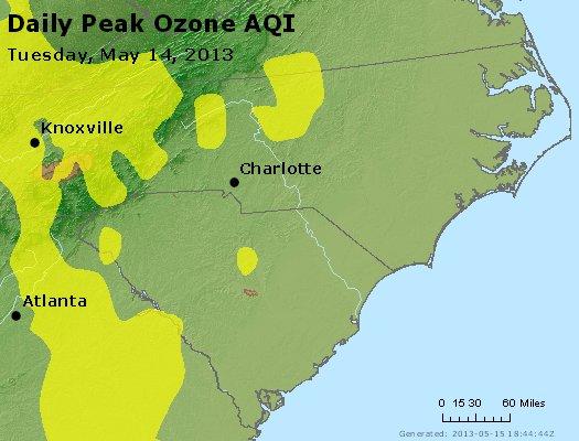 Peak Ozone (8-hour) - http://files.airnowtech.org/airnow/2013/20130514/peak_o3_nc_sc.jpg