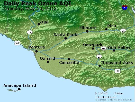 Peak Ozone (8-hour) - http://files.airnowtech.org/airnow/2013/20130514/peak_o3_ventura.jpg