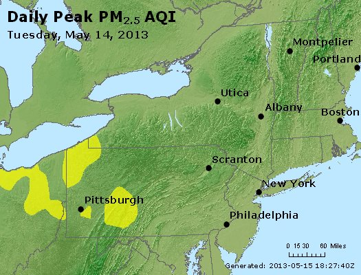 Peak Particles PM<sub>2.5</sub> (24-hour) - http://files.airnowtech.org/airnow/2013/20130514/peak_pm25_ny_pa_nj.jpg