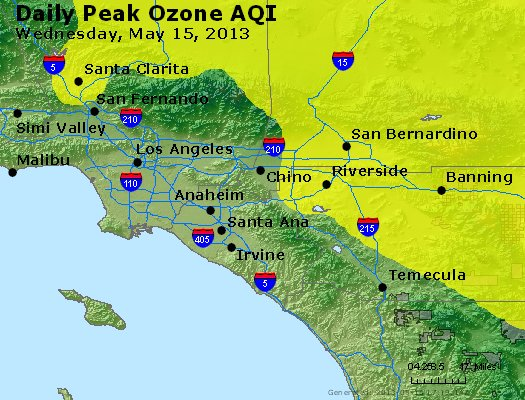 Peak Ozone (8-hour) - http://files.airnowtech.org/airnow/2013/20130515/peak_o3_losangeles_ca.jpg
