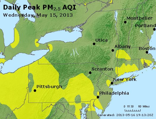 Peak Particles PM<sub>2.5</sub> (24-hour) - http://files.airnowtech.org/airnow/2013/20130515/peak_pm25_ny_pa_nj.jpg