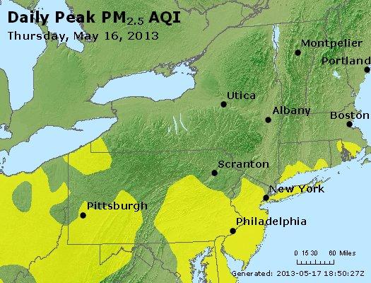 Peak Particles PM<sub>2.5</sub> (24-hour) - http://files.airnowtech.org/airnow/2013/20130516/peak_pm25_ny_pa_nj.jpg