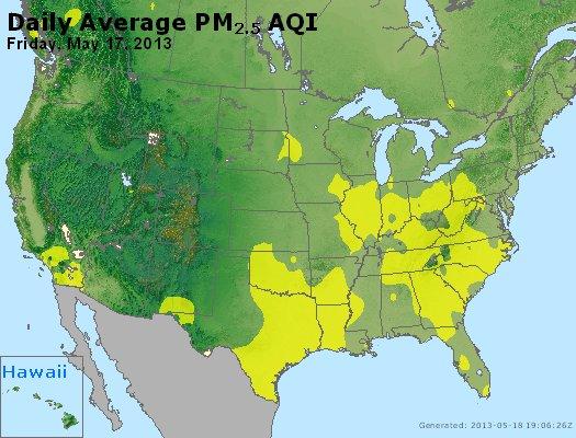 Peak Particles PM<sub>2.5</sub> (24-hour) - http://files.airnowtech.org/airnow/2013/20130517/peak_pm25_usa.jpg