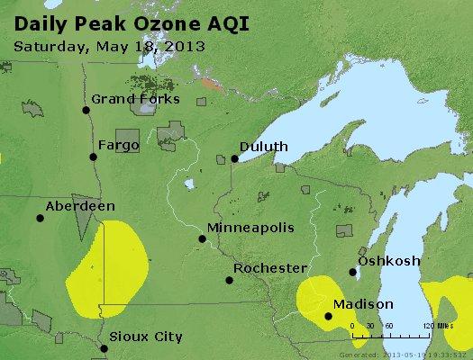 Peak Ozone (8-hour) - http://files.airnowtech.org/airnow/2013/20130518/peak_o3_mn_wi.jpg