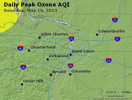 Peak Ozone (8-hour) - http://files.airnowtech.org/airnow/2013/20130518/peak_o3_stlouis_mo.jpg