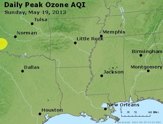 Peak Ozone (8-hour) - http://files.airnowtech.org/airnow/2013/20130519/peak_o3_ar_la_ms.jpg