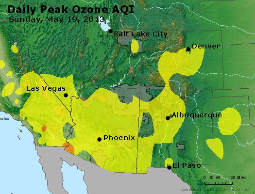 Peak Ozone (8-hour) - http://files.airnowtech.org/airnow/2013/20130519/peak_o3_co_ut_az_nm.jpg