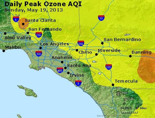 Peak Ozone (8-hour) - http://files.airnowtech.org/airnow/2013/20130519/peak_o3_losangeles_ca.jpg