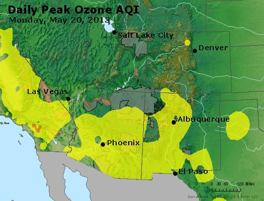 Peak Ozone (8-hour) - http://files.airnowtech.org/airnow/2013/20130520/peak_o3_co_ut_az_nm.jpg