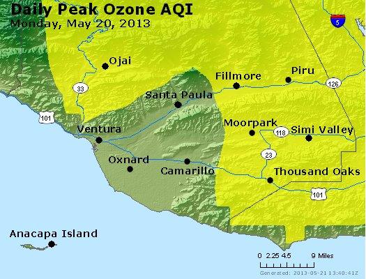 Peak Ozone (8-hour) - http://files.airnowtech.org/airnow/2013/20130520/peak_o3_ventura.jpg