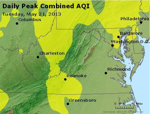 Peak AQI - http://files.airnowtech.org/airnow/2013/20130521/peak_aqi_va_wv_md_de_dc.jpg