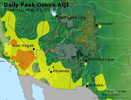 Peak Ozone (8-hour) - http://files.airnowtech.org/airnow/2013/20130521/peak_o3_co_ut_az_nm.jpg