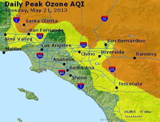 Peak Ozone (8-hour) - http://files.airnowtech.org/airnow/2013/20130521/peak_o3_losangeles_ca.jpg