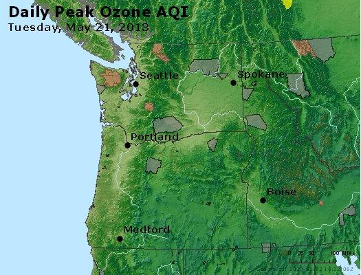 Peak Ozone (8-hour) - http://files.airnowtech.org/airnow/2013/20130521/peak_o3_wa_or.jpg