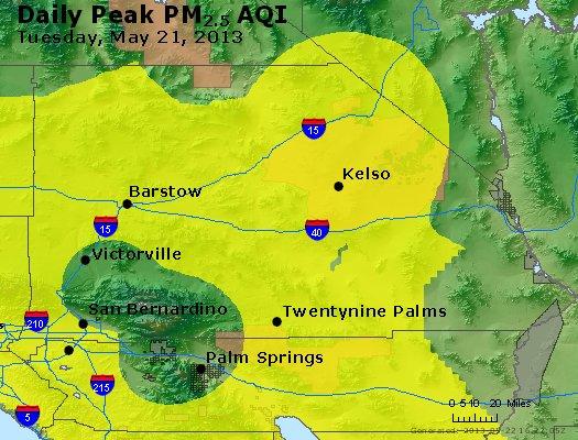 Peak Particles PM<sub>2.5</sub> (24-hour) - http://files.airnowtech.org/airnow/2013/20130521/peak_pm25_sanbernardino_ca.jpg