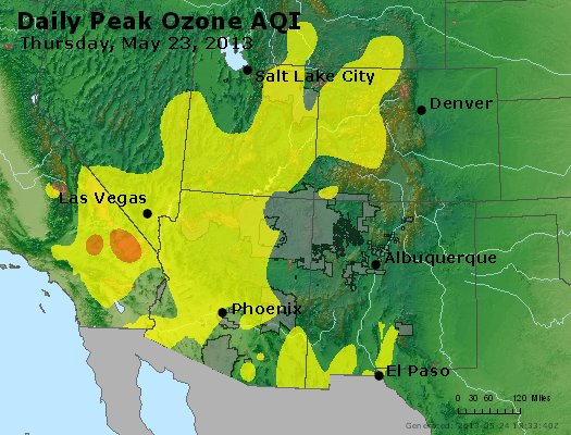 Peak Ozone (8-hour) - http://files.airnowtech.org/airnow/2013/20130523/peak_o3_co_ut_az_nm.jpg