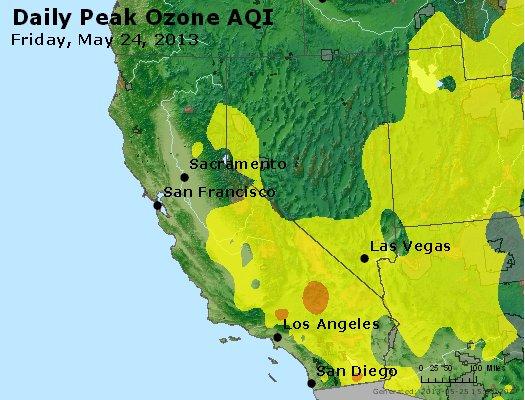 Peak Ozone (8-hour) - http://files.airnowtech.org/airnow/2013/20130524/peak_o3_ca_nv.jpg