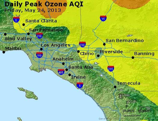 Peak Ozone (8-hour) - http://files.airnowtech.org/airnow/2013/20130524/peak_o3_losangeles_ca.jpg
