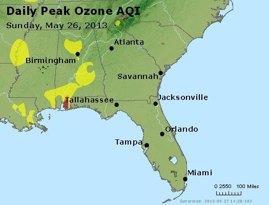 Peak Ozone (8-hour) - http://files.airnowtech.org/airnow/2013/20130526/peak_o3_al_ga_fl.jpg
