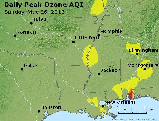 Peak Ozone (8-hour) - http://files.airnowtech.org/airnow/2013/20130526/peak_o3_ar_la_ms.jpg