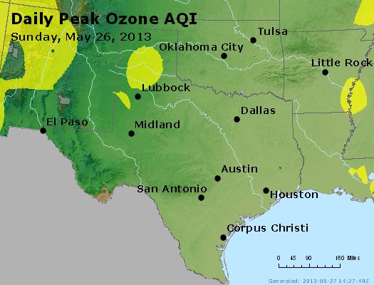 Peak Ozone (8-hour) - http://files.airnowtech.org/airnow/2013/20130526/peak_o3_tx_ok.jpg