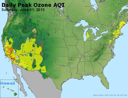 Peak Ozone (8-hour) - http://files.airnowtech.org/airnow/2013/20130601/peak_o3_usa.jpg