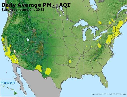 Peak Particles PM<sub>2.5</sub> (24-hour) - http://files.airnowtech.org/airnow/2013/20130601/peak_pm25_usa.jpg