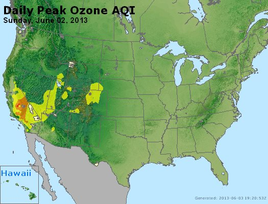 Peak Ozone (8-hour) - http://files.airnowtech.org/airnow/2013/20130602/peak_o3_usa.jpg
