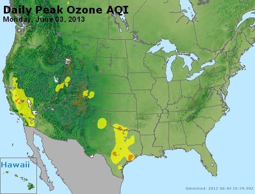 Peak Ozone (8-hour) - http://files.airnowtech.org/airnow/2013/20130603/peak_o3_usa.jpg