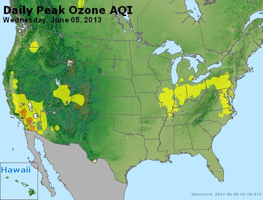 Peak Ozone (8-hour) - http://files.airnowtech.org/airnow/2013/20130605/peak_o3_usa.jpg