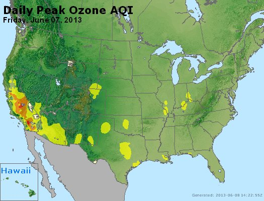 Peak Ozone (8-hour) - http://files.airnowtech.org/airnow/2013/20130607/peak_o3_usa.jpg