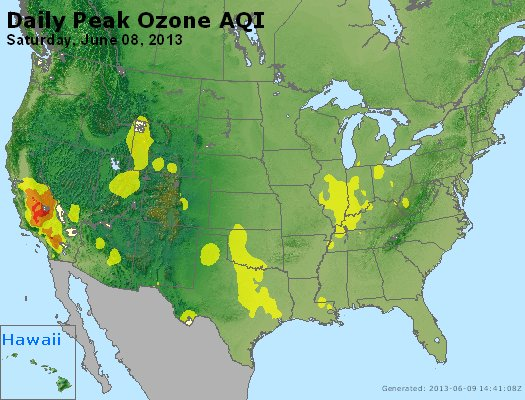 Peak Ozone (8-hour) - http://files.airnowtech.org/airnow/2013/20130608/peak_o3_usa.jpg